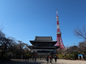 Zojyouji temple main building and Tokyo tower
