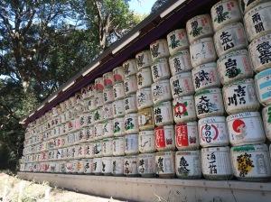 Nihonsyu barrel with straw cover