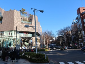 Omotesando street, street of many attractive design buildings