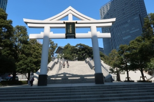Big stone Torii gate