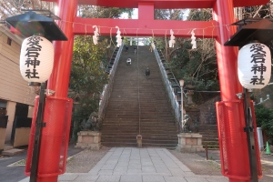 Red Torii gate of Atago shrine
