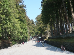 Main approach road to the shrine