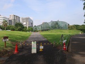 entrance of greenhouse