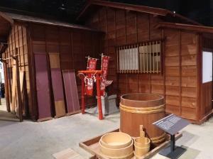 1/1 model of Munewari nagaya (A split row house) for townspeople
