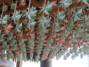 Rows of Pinwheels. gate of Hikawa shrine