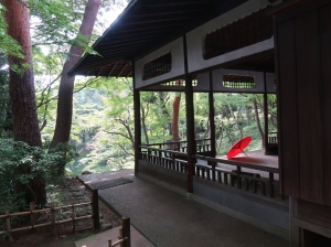 A bower on the cliff overlooking Jiro Benten Pond