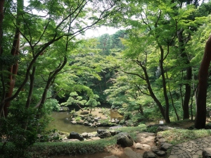 Jiro Benten Pond from a bower on the cliff