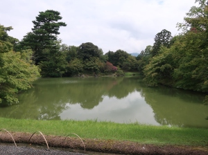 仙洞御所庭園の北池 North pond in Sento Imperial Palace.