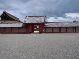 朱塗りの月華門 Gekkamon, vermilion gate