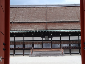 承明門から見た紫宸殿 Shishinden from Jomeimon gate