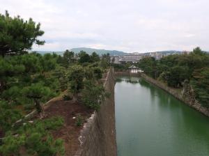 天守跡 The base of the keep tower