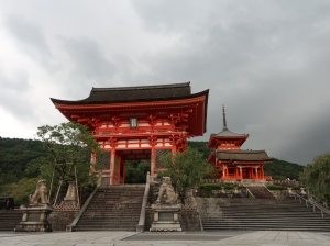 Nio-mon (Deva gate) (left side) and Sai-mon (west gate) and Three-story Pagoda